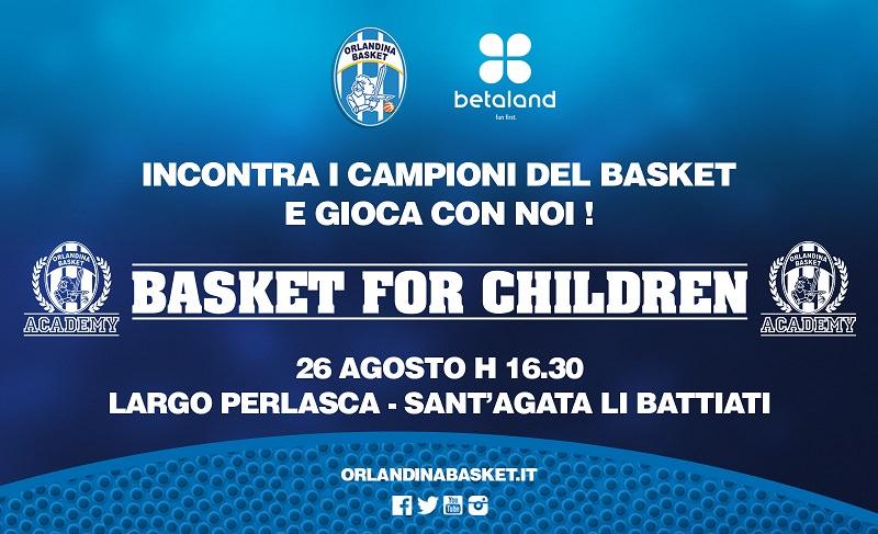 """""""Basket for Children"""": i piccoli tifosi incontrano i loro campioni"""
