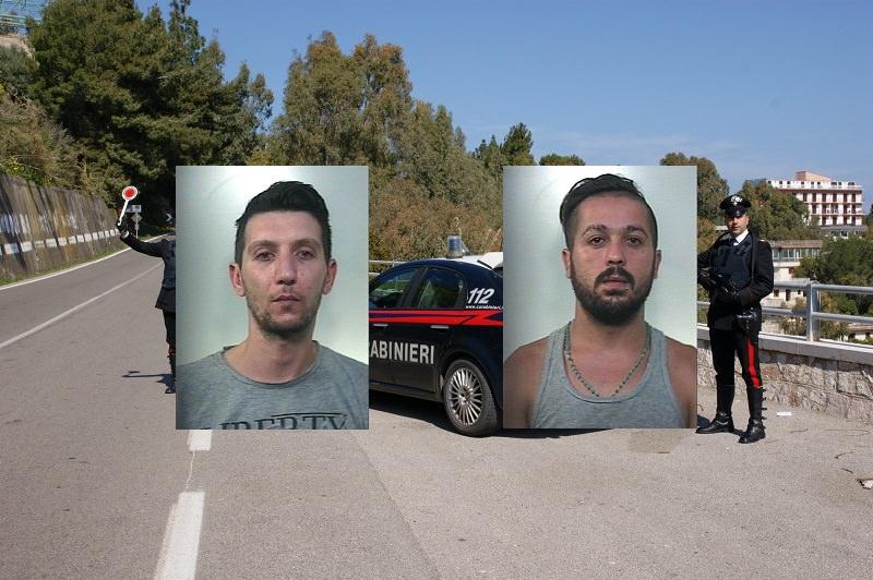 In giro con la droga in macchina, ma erano seguiti da carabinieri: nei guai due licatesi