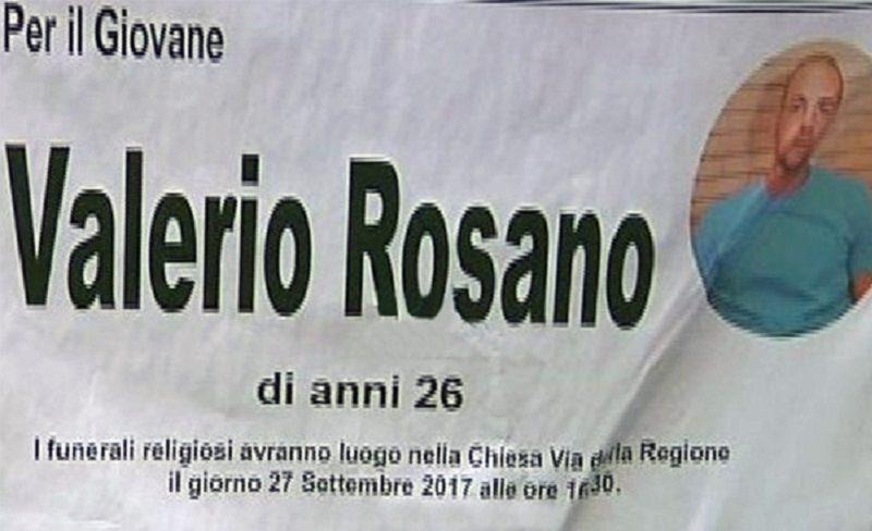 Rimossi i manifesti funebri per il collaboratore di giustizia Rosano lui è vivo