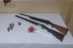 Fucili e munizioni in casa: in manette insospettabile impiegato pubblico