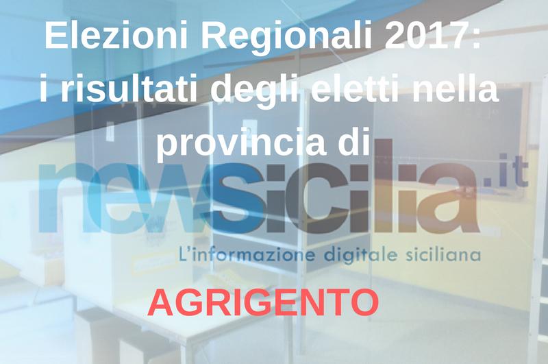 Elezioni regionali 2017: i risultati degli eletti nella provincia di AGRIGENTO