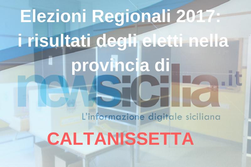 Elezioni Regionali 2017: i risultati degli eletti nella provincia di CALTANISSETTA
