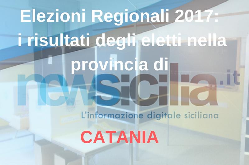 Elezioni regionali 2017: i risultati degli eletti nella provincia di CATANIA
