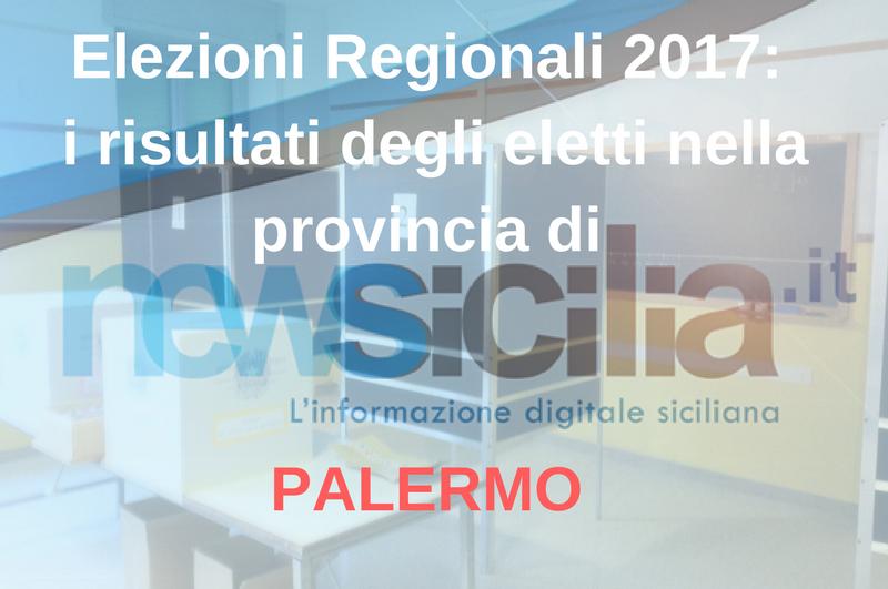Elezioni Regionali 2017: i risultati degli eletti nella provincia di PALERMO