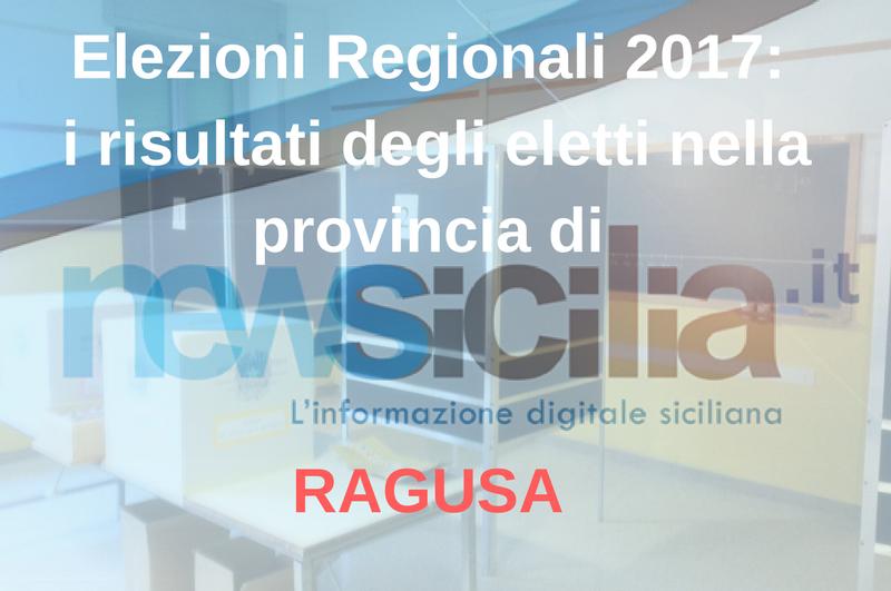 Elezioni Regionali 2017: i risultati degli eletti nella provincia di RAGUSA