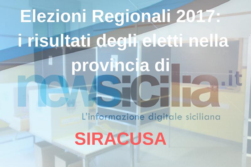 Elezioni Regionali 2017: i risultati degli eletti nella provincia di SIRACUSA