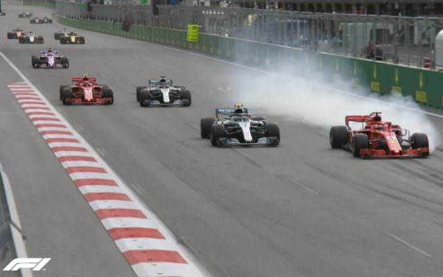 Succede di tutto a Baku: vince Hamilton, fuori Red Bull e Bottas. Super Perez, male Vettel