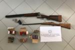 Picanello, casa abbandonata trasformata in deposito di armi: sequestrati fucili, rivoltelle e 141 cartucce