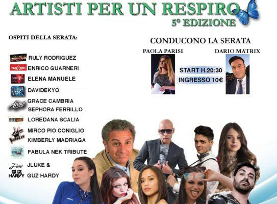 """""""Artisti per un respiro"""" giunge alla 5a edizione: talenti uniti per la Fibrosi Cistica"""