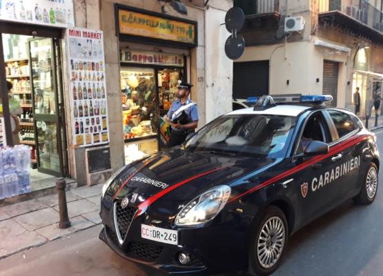 Sorpresi dai carabinieri a svaligiare un mini market, arrestati 2 giovani palermitani