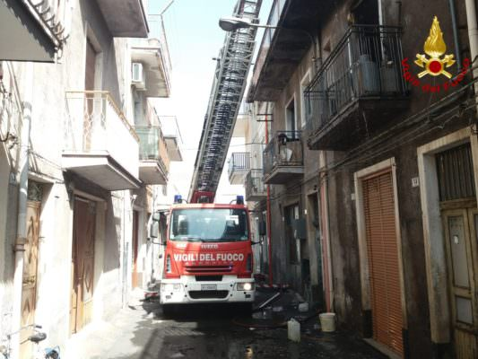 Abitazione in fiamme nel Catanese: morti due cagnolini. Salva un'anziana e un terzo cucciolo – FOTO