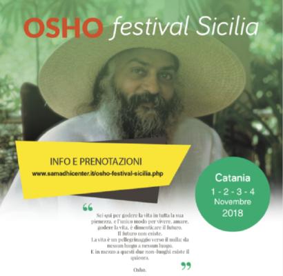 """""""Svegliati qui e ora"""", dall'1 al 4 novembre arriva a Catania il primo """"Osho Festival Sicilia"""""""