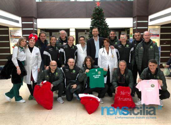 La squadra delle All Stars in ospedale