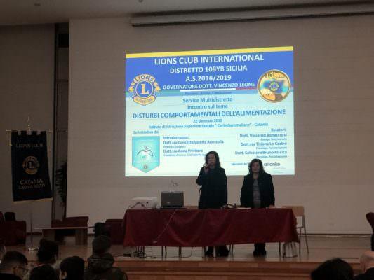 """""""Disturbi comportamentali dell'alimentazione"""", conferenza all'Istituto Gemmellaro di Catania"""