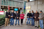 Ex dipendenti Myrmex legati davanti alla sede della Regione a Catania, chiesto incontro con Musumeci: da mesi privi di fonte di reddito