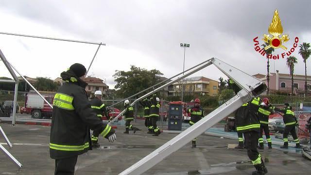 Emergenza post terremoto di Santo Stefano: l'efficienza operativa dei vigili del fuoco – VIDEO e FOTO