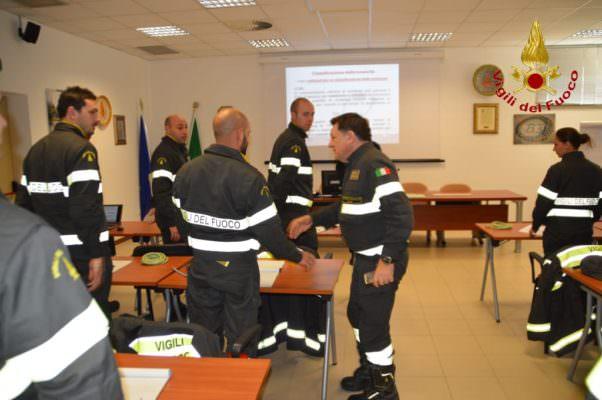 Visita del direttore Regionale al centro di formazione dei vigili del fuoco di Catania