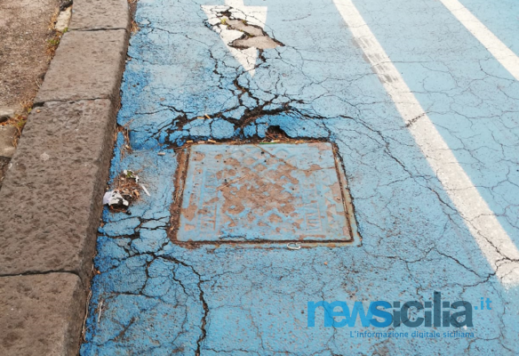 Viale Artale Alagona, la pista ciclabile odiata dai catanesi cade a pezzi. Quando verrà sistemata?