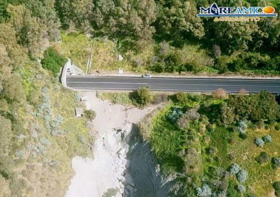 Erosione costiera e dissesto idrogeologico: SS 640 a rischio crollo – VIDEO e FOTO