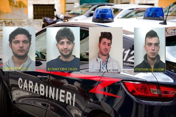Furti in bar e auto rubate: scattano 4 arresti