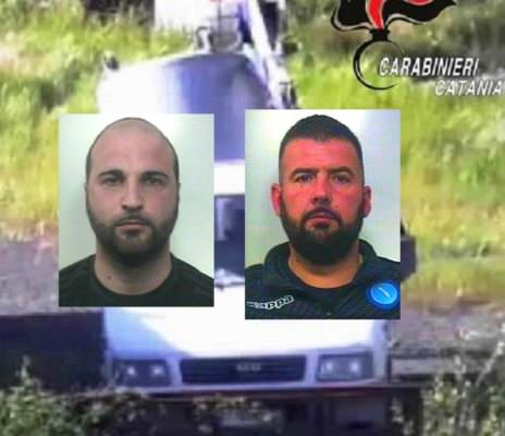 """Furto nella ditta edile """"La Fenice S.r.l."""": due catanesi sorpresi con le """"mani nel sacco"""". Arrestati"""