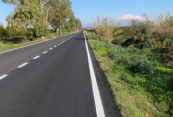 Catania, terminati gli ultimi lavori di manutenzione delle strade provinciali 105 e 106 – FOTO