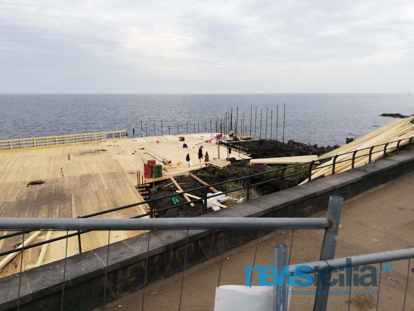 Solarium, ultimi ritocchi a Nautico e San Giovanni Li Cuti ma in piazza Europa si aspetta ancora il privato – FOTO