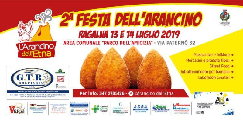 Seconda festa dell'Arancino, a Ragalna 13 e 14 luglio: due serate all'insegna di gusto e divertimento