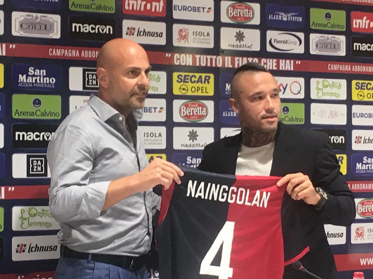 """NAINGGOLAN TORNA A CAGLIARI """"LAVORERO' PER FAR RICREDERE L'INTER"""""""