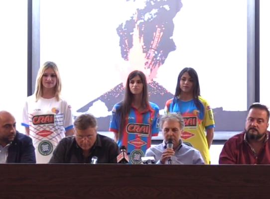 Calcio Catania, presentate a Torre del Grifo le divise ufficiali della stagione 2019/2020