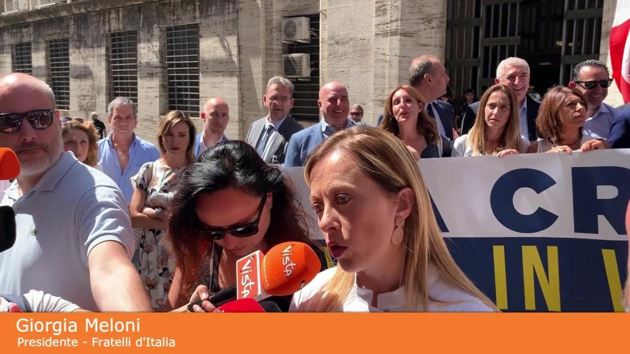 """Meloni """"Di Maio inconcludente su crisi aziendali"""""""