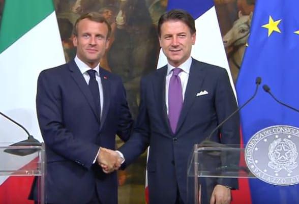 """CONTE INCONTRA MACRON """"INSIEME PER IL RILANCIO DELL'EUROPA"""""""