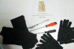 Guanti, coltello e materiale per lo scasso in auto: denunciati 3 pregiudicati catanesi