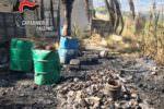 Bruciava rifiuti pericolosi per ricavare rame: arrestato 56enne