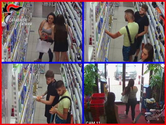 """Furti al centro commerciale """"I Portali"""": arrestate due coppie di fratelli e sorelle – NOMI, FOTO e VIDEO"""