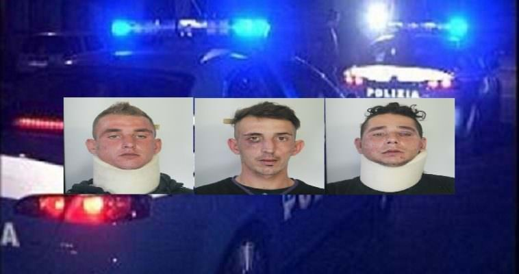 Panico nel Catanese, inseguimento a 150 all'ora tra lo sgomento dei pedoni: ferito poliziotto, arrestati tre uomini