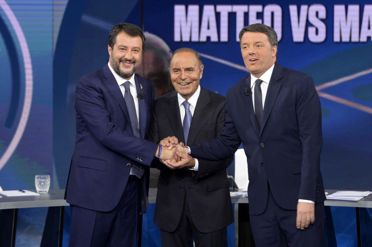 DUELLO SALVINI-RENZI, VINCE VESPA CHE PORTA IL CONFRONTO IN TV