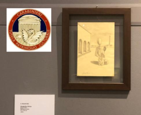 Falsi di Giorgio de Chirico e 22 opere d'arte di dubbia autenticità: indagine in corso – FOTO