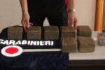 Quasi 8 chili di hashish nascosti in una scatola delle scarpe: in manette due nigeriani