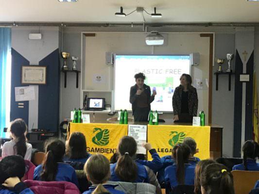"""Gli alunni del C.D. """"Fava"""" di Mascalucia attivisti e promotori dei progetti """"100 alberi per Catania"""" e plastic free attivati da Legambiente"""