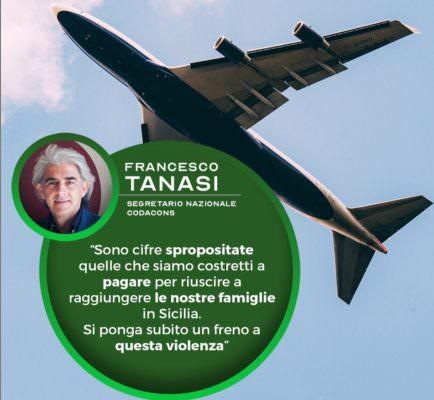 """Caro voli in Sicilia, esposto del Codacons a favore dei cittadini: """"Tariffe scandalose"""""""
