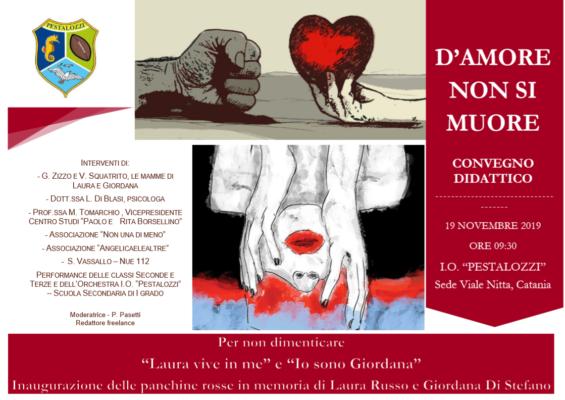 """Istituto Omnicomprensivo """"Pestalozzi"""", """"D'amore non si muore"""": invito al convegno di sensibilizzazione contro la violenza di genere"""