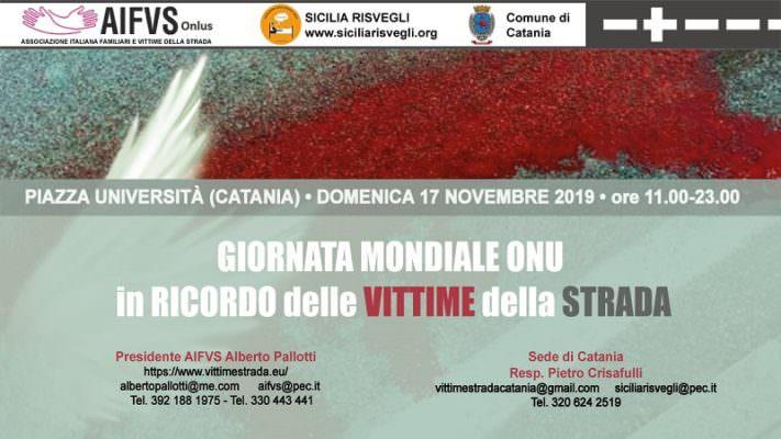 Sale l'attesa a Catania per la Giornata Mondiale delle Vittime della Strada: orari e attività dell'evento in Piazza Università