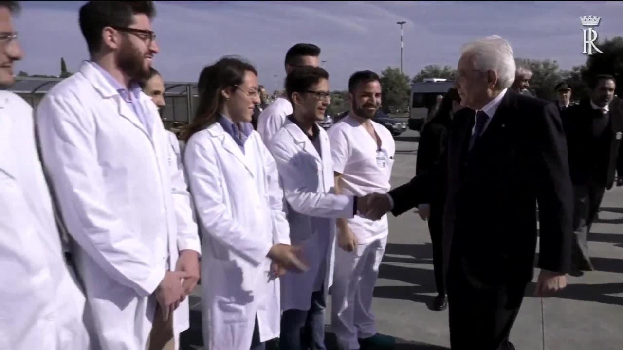 Mattarella in visita all'ospedale San Marco di Catania