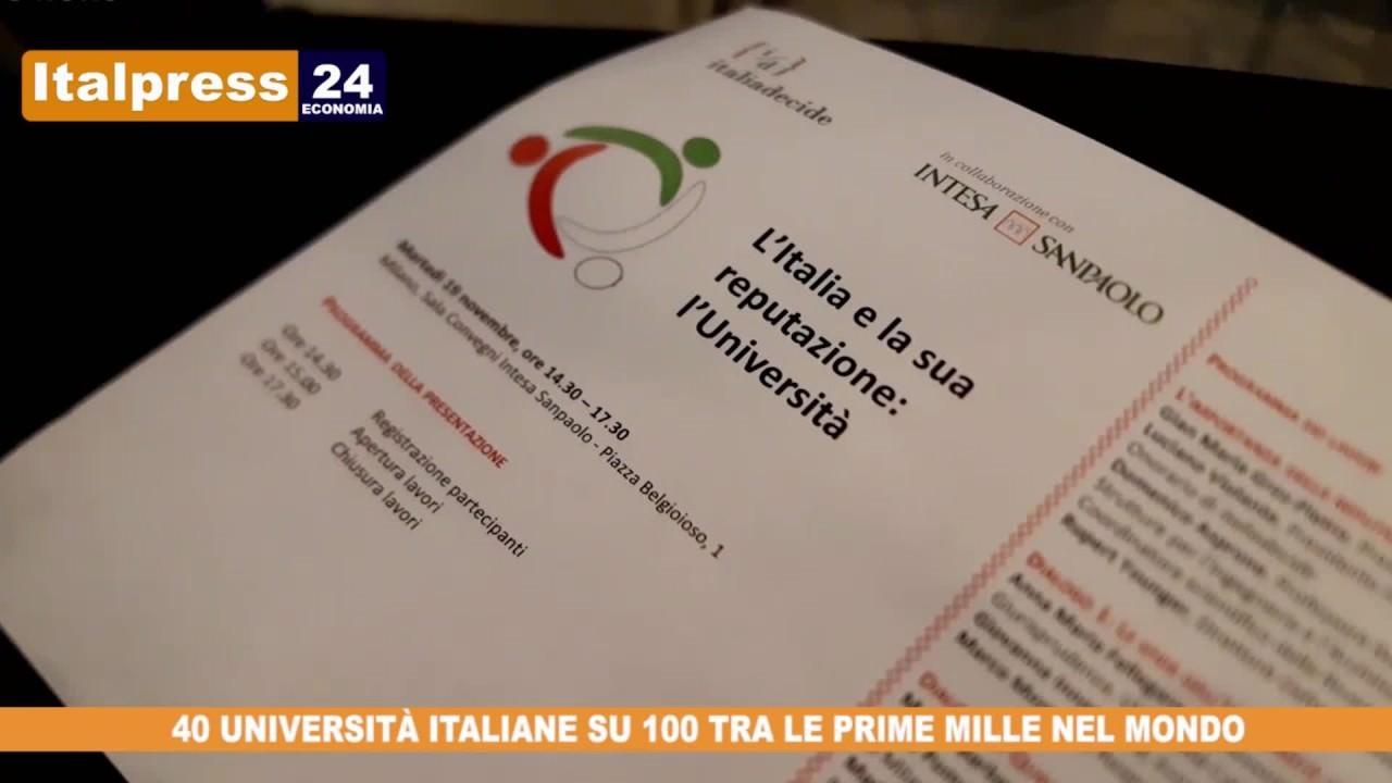 4 atenei italiani su 10 nella Top 1000 mondiale