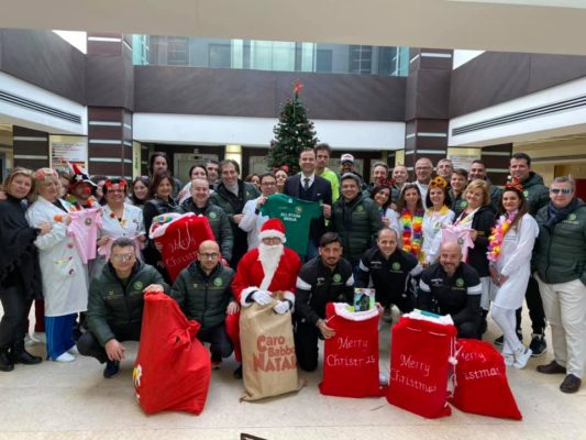 Catania, All Stars Sicilia augurano buon Natale ai piccoli pazienti del Nuovo Garibaldi