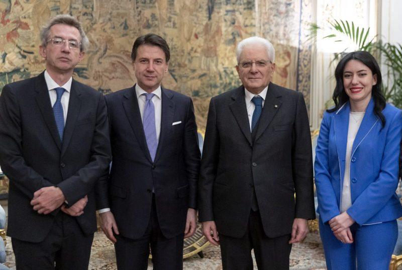 I NEO MINISTRI AZZOLINA E MANFREDI GIURANO AL QUIRINALE