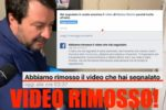 Salvini al citofono, Facebook rimuove il video