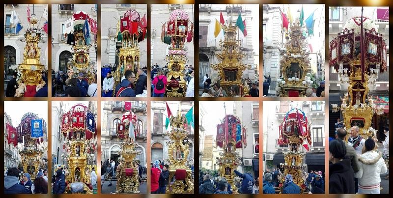"""Candelore di Sant'Agata tra fede, tradizione e folklore: """"arte in movimento"""" per la Patrona di Catania"""
