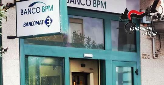 Colpo fallito a un bancomat nel Catanese: artificieri e carabinieri sul posto